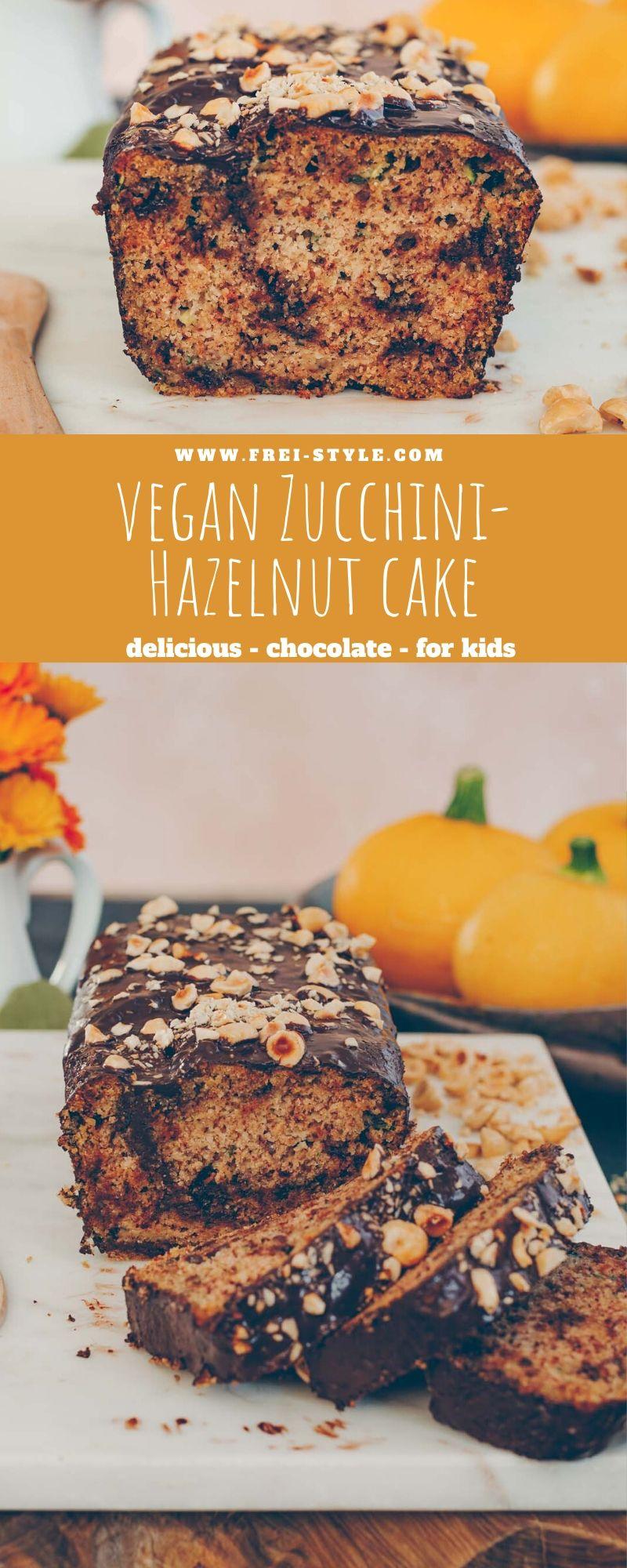 Zucchini hazelnut cake