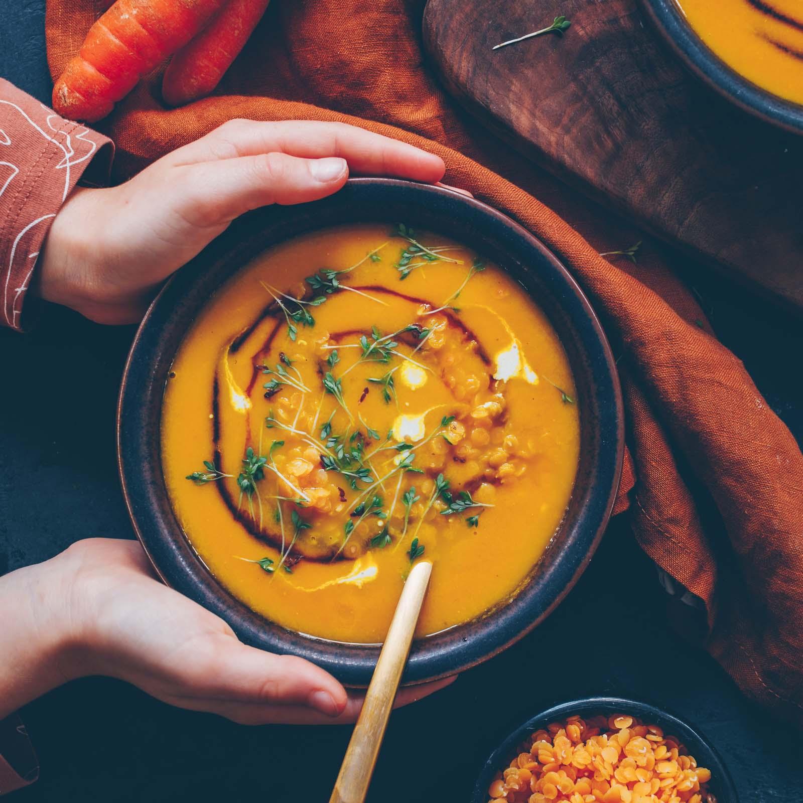 Rüebli-Linsen Suppe