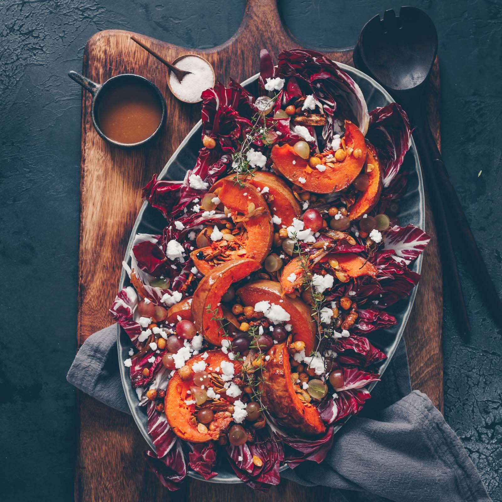 Radicchio Salat mit Ofengemüse
