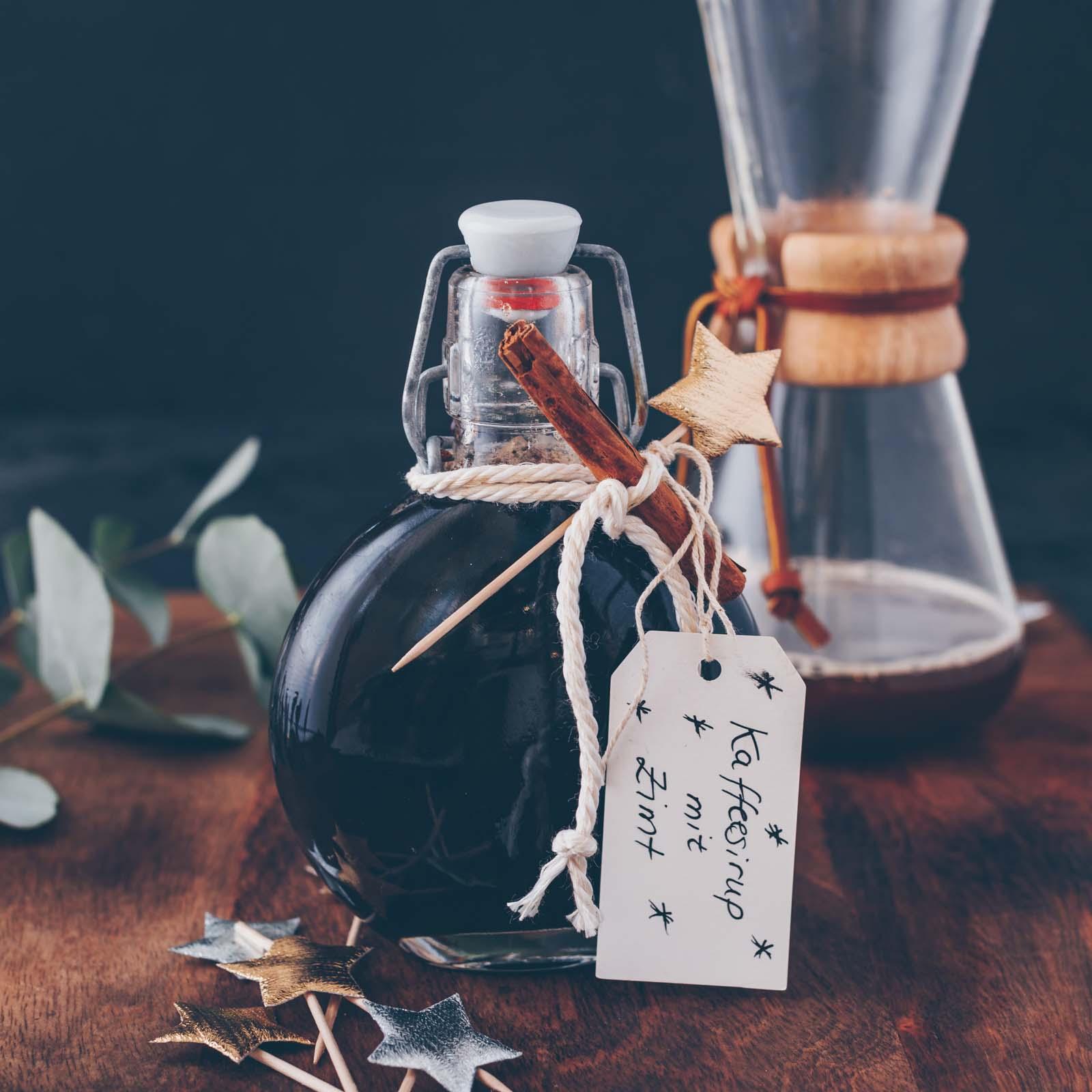 Kaffee-Sirup mit Zimt