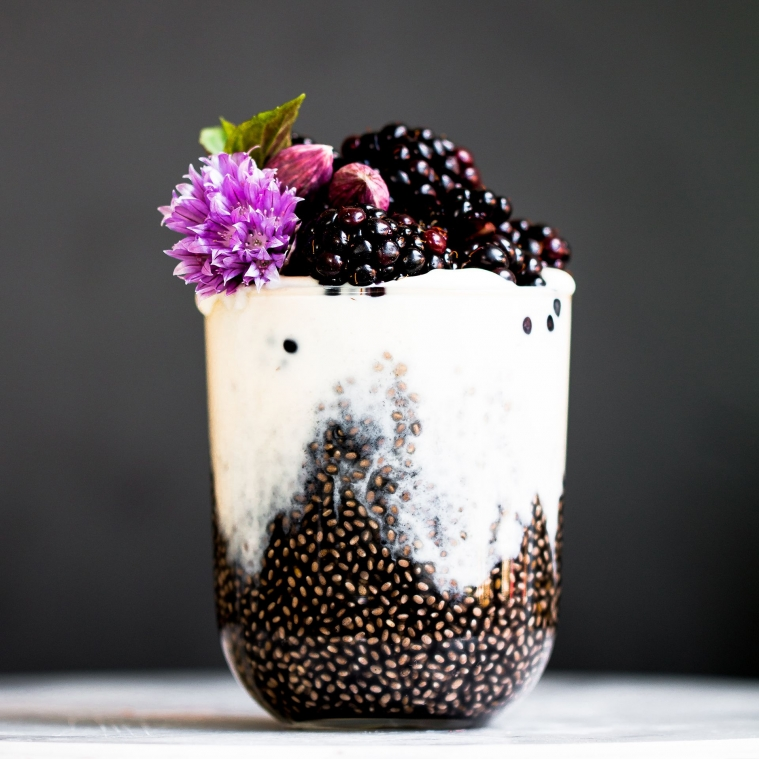 Black Chia Pudding