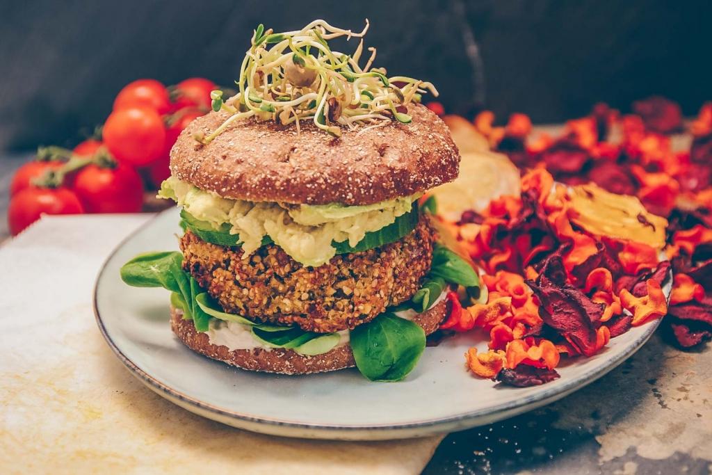 Quinoa Kürbis Burger