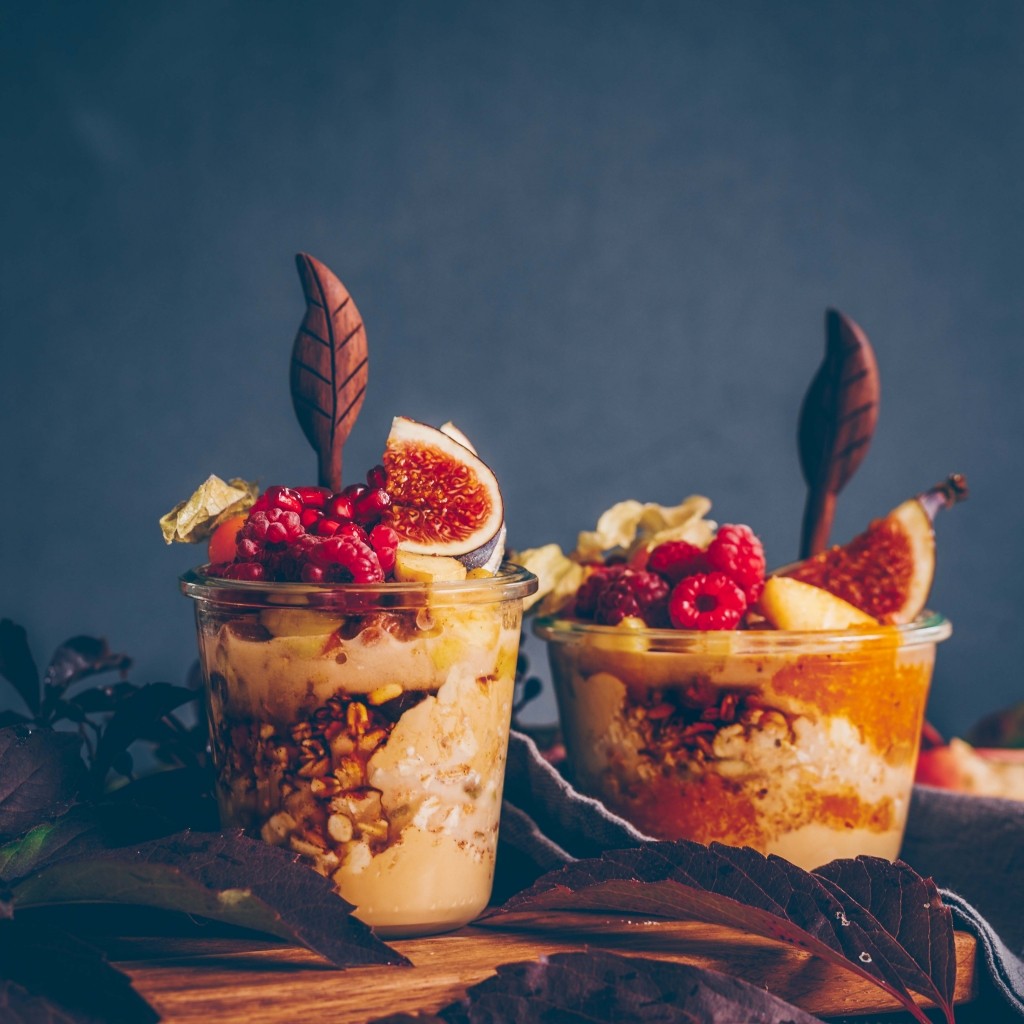 Apfel-Zimt Overnight Oats in 2 Varianten