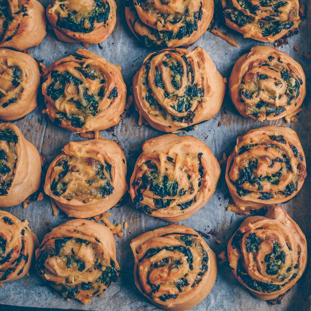 Vegan spinach rolls