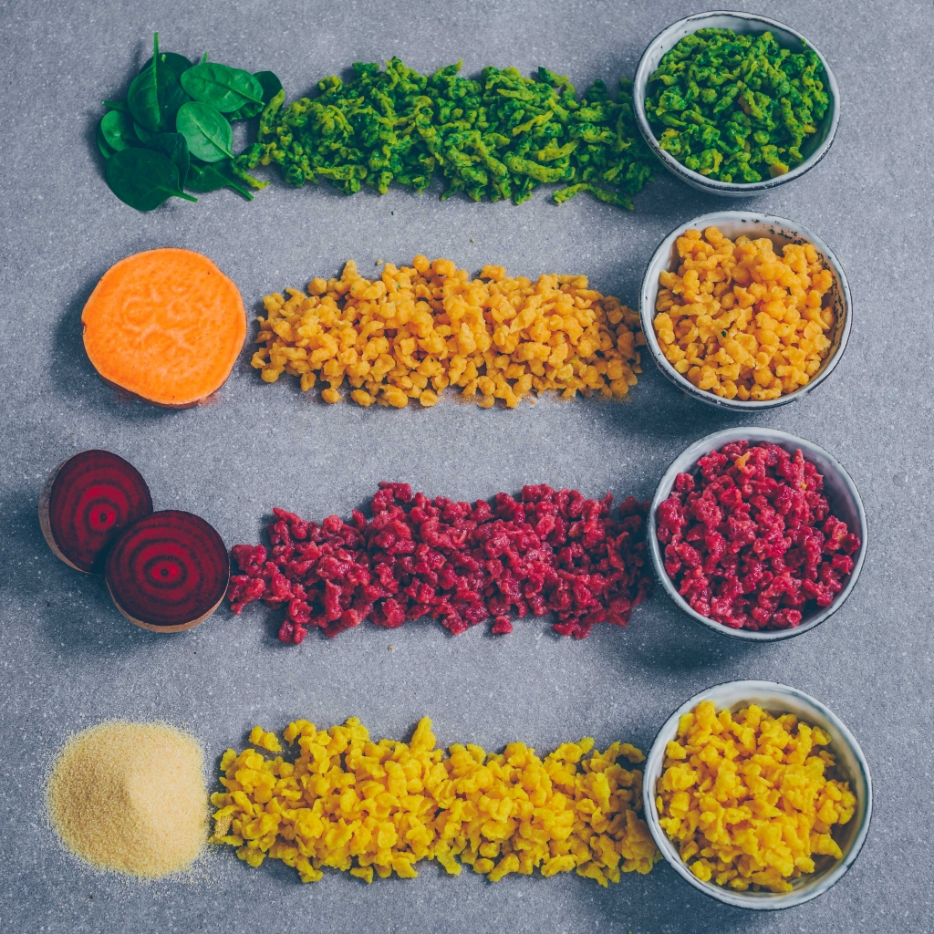 Vegane Spätzle/Knöpfli – 4 Varianten