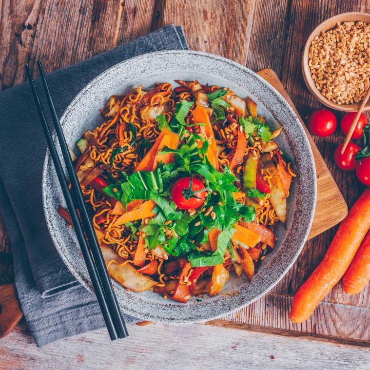 Blitz-Rezept: Asianudeln aus dem Wok