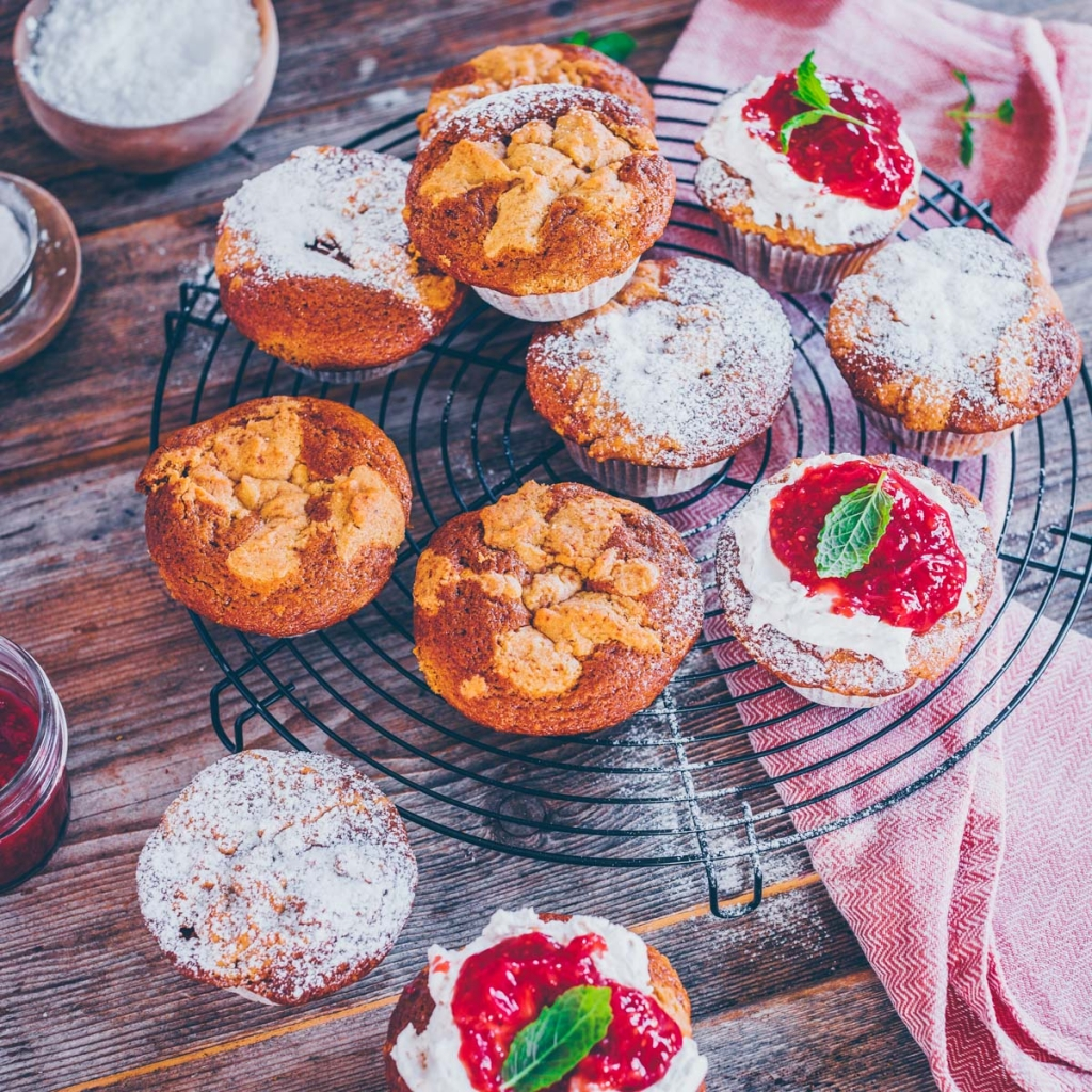Rhabarber Streusel -Muffins