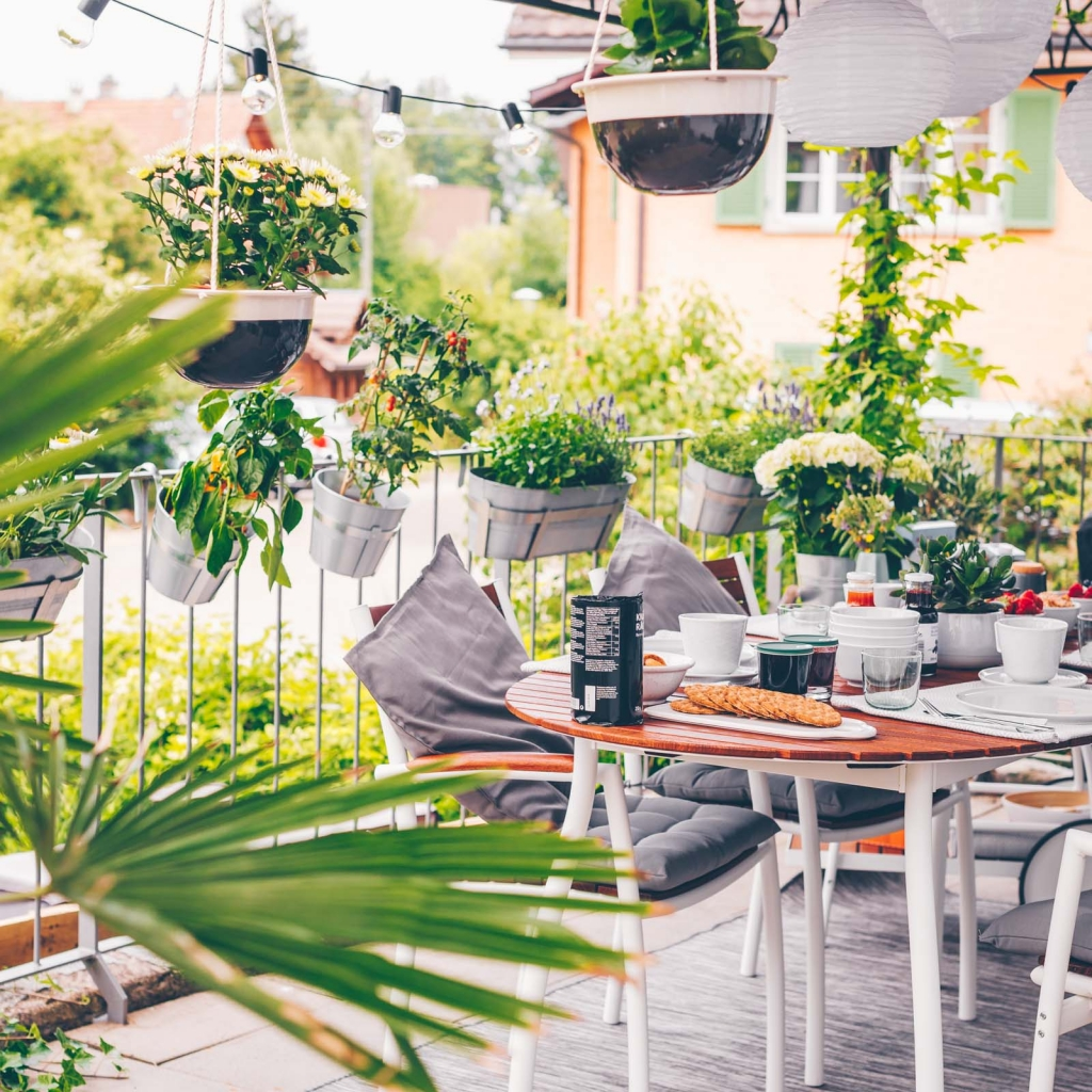 Unser liebster Sommerplatz: die Terrasse