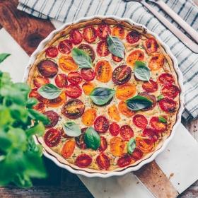 Tomatenwähe ohne Ei mit Seidentofu