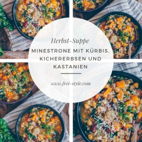Herbst-Minestrone mit Kürbis und Maroni
