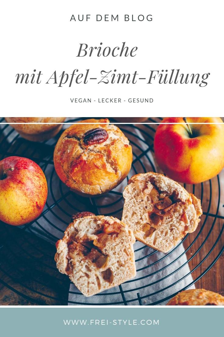 vegane Brioche mit Apfel-Zimt-Füllung