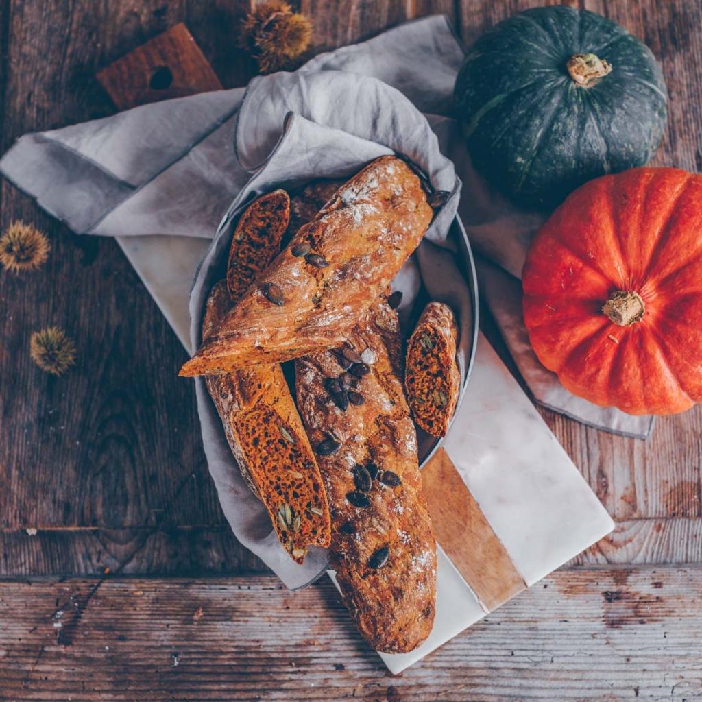 Pumpkin baguette