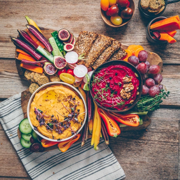 Christmas menu  Part II – sweet potato hummus & beetroot walnut dip