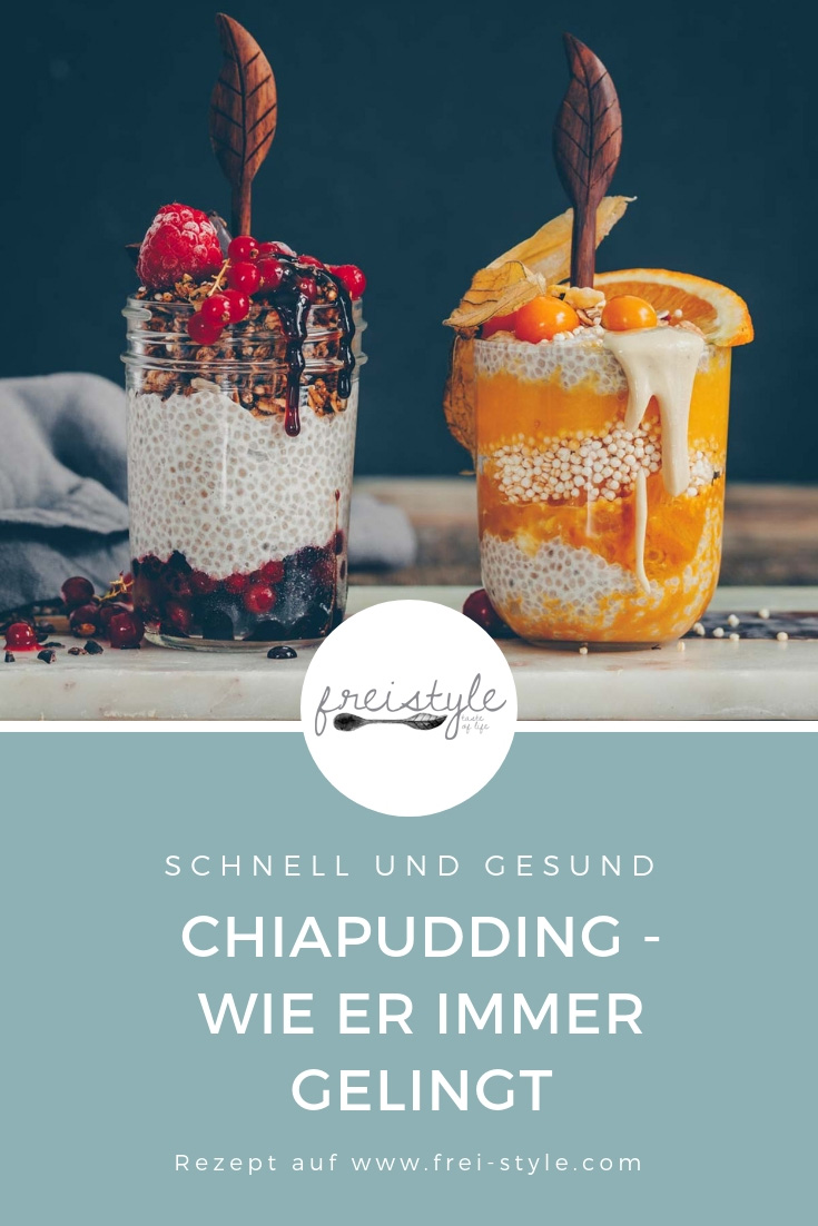 Chia Pudding Grundrezept vegan