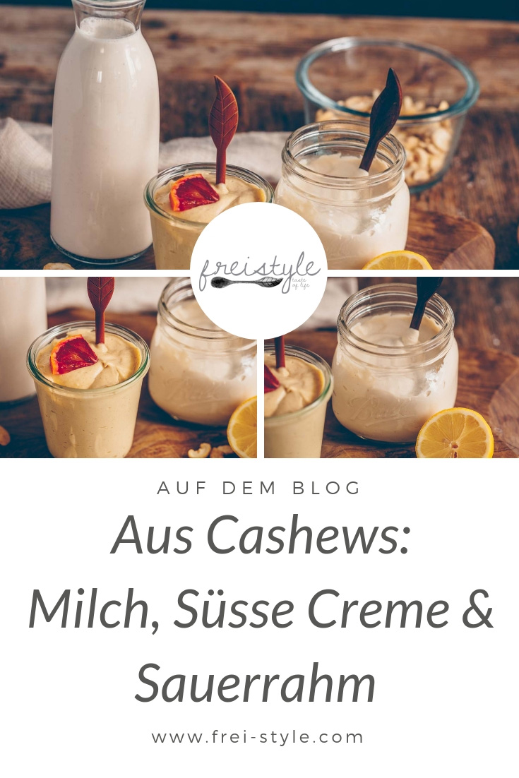 3 Grundrezepte mit Cashews