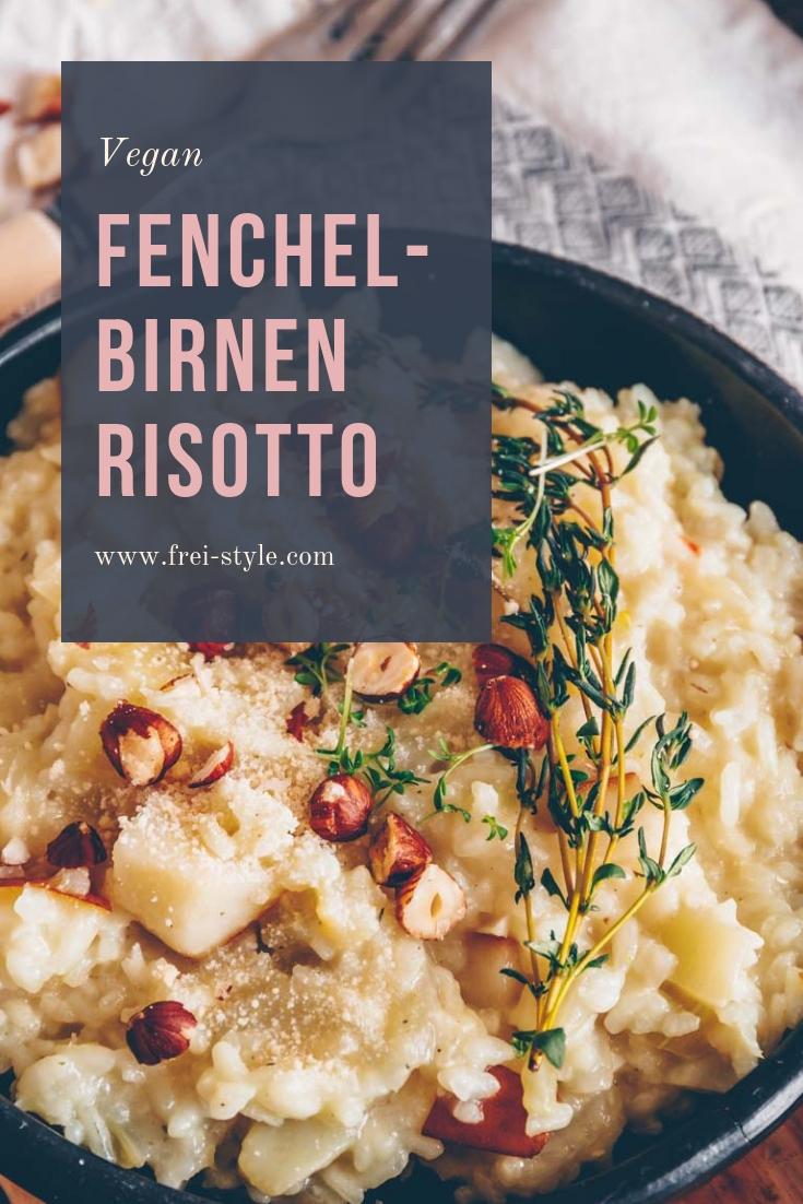 Fenchel-Risotto mit Birnen vegan