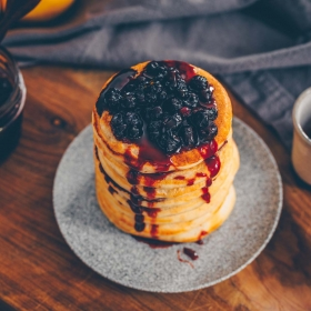 Zitronen-Ricotta Pancakes, vegan