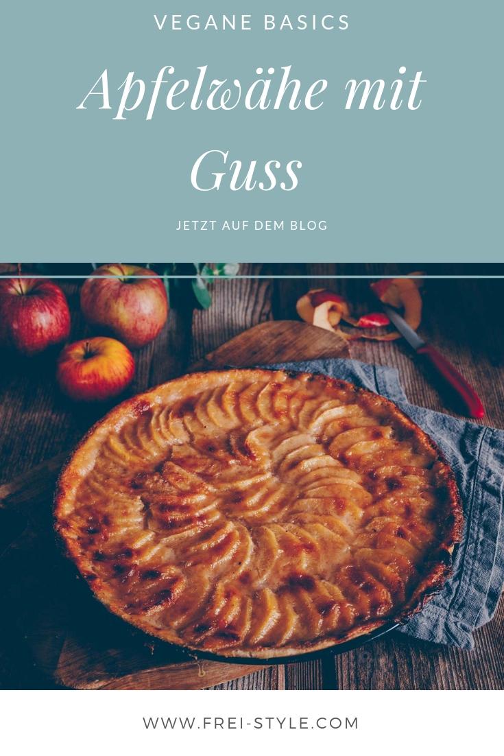 vegane Apfelwähe mit Guss