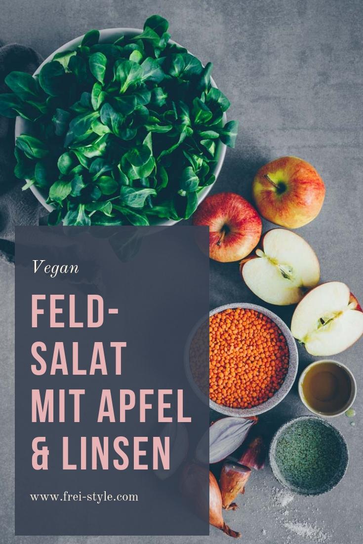 Feldsalat mit Apfel & Linsen