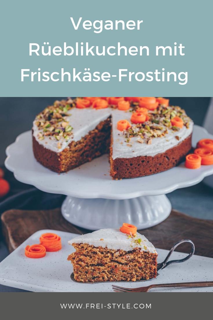 Rüeblikuchen mit Frischkäse-Frosting