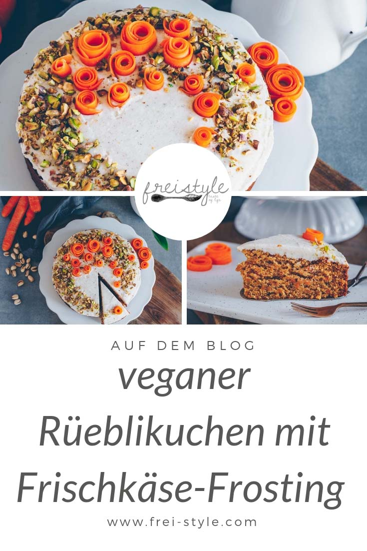 Rüeblikuchen mit Frischkäse-Frosting - vegan