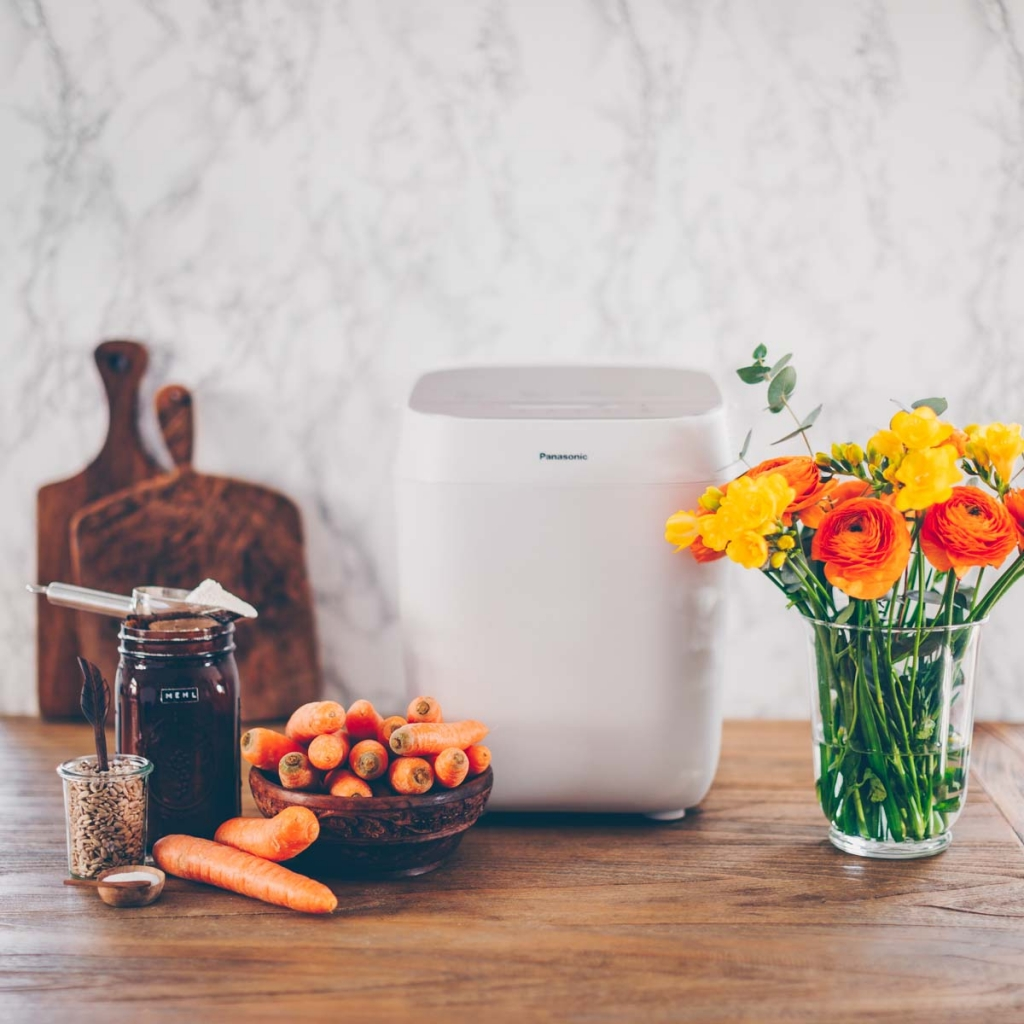 Carrot bread & apple carrot jam with the Panasonic Croustina