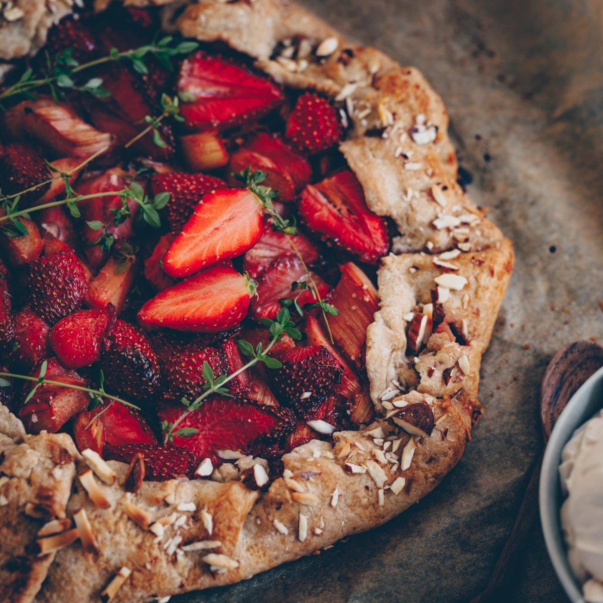 Erdbeer-Galette vegan