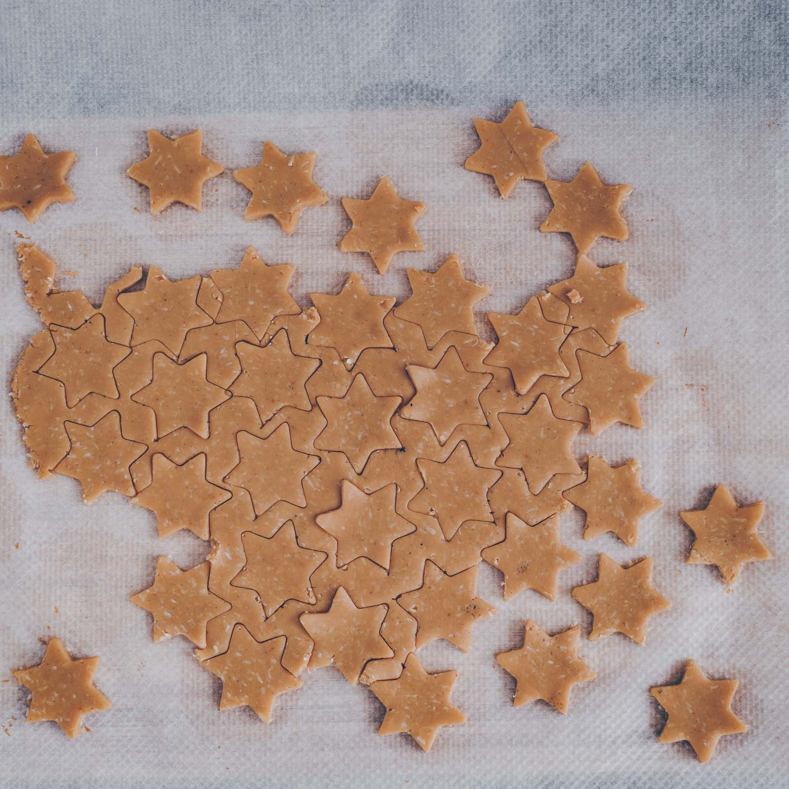 Kokos-Schoggi-Sterne