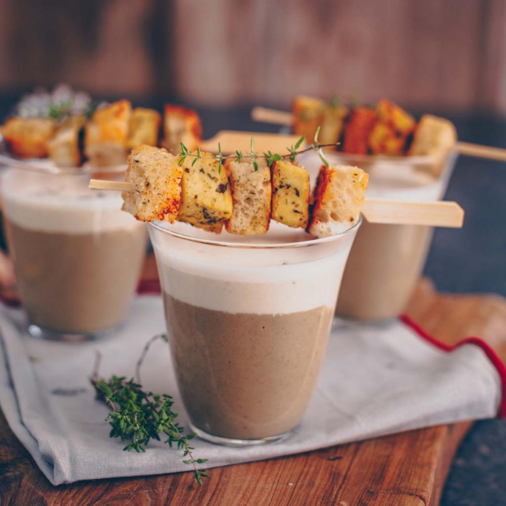 Christmas starter: Mushroom cappuccino