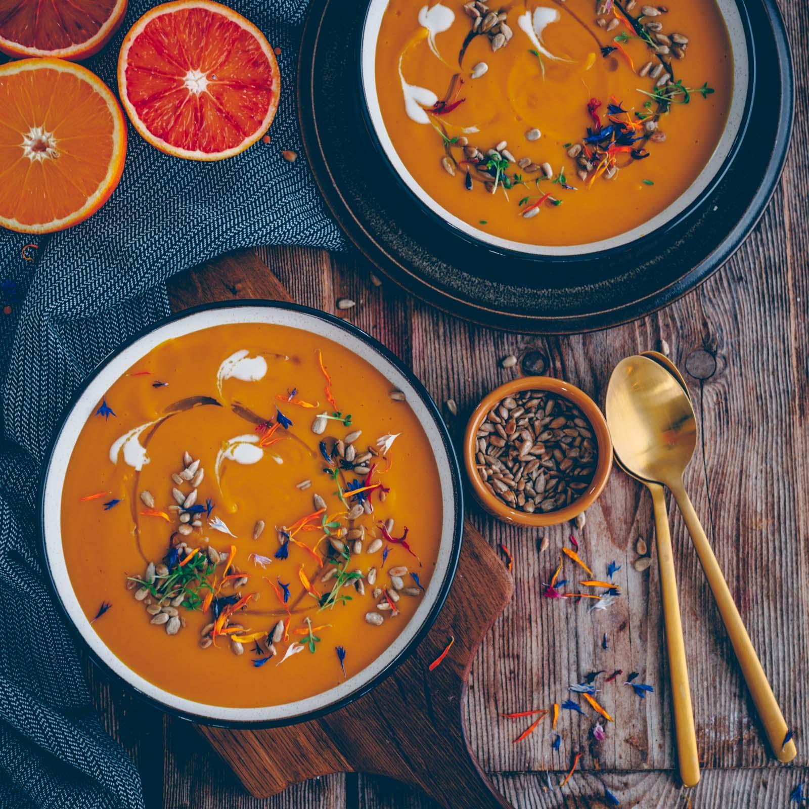 Linsen-Orange Suppe