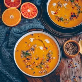 Linsen Orangen Suppe vegan