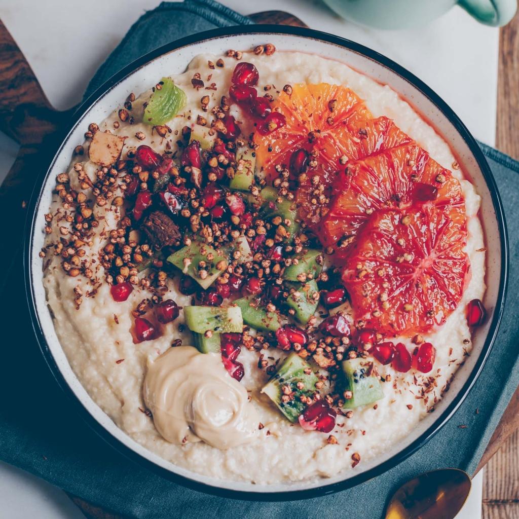 Hirse-Porridge mit Orange