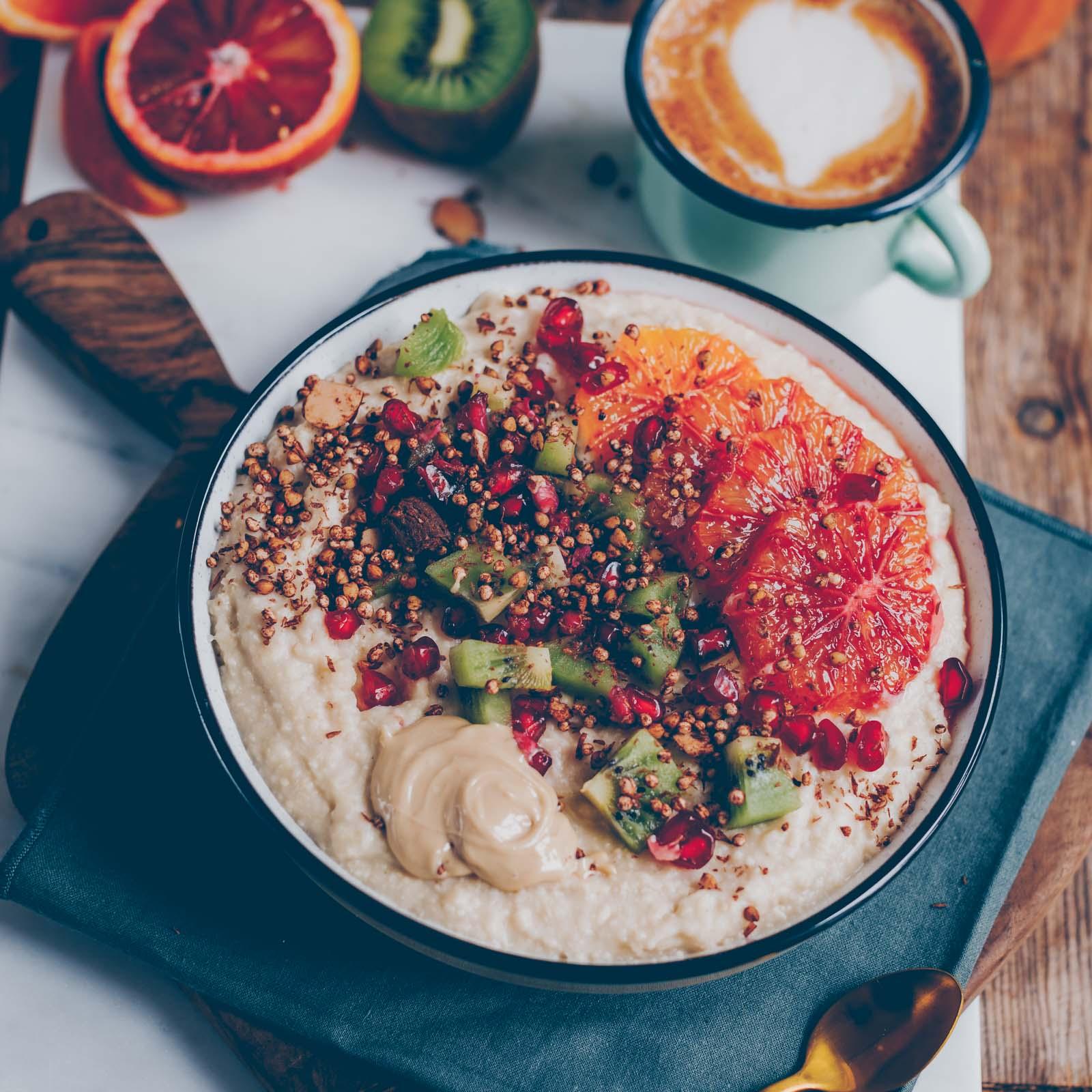 Porridge mit den Hirseflocken