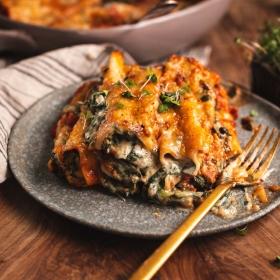 Vegane Cannelloni mit Spinat
