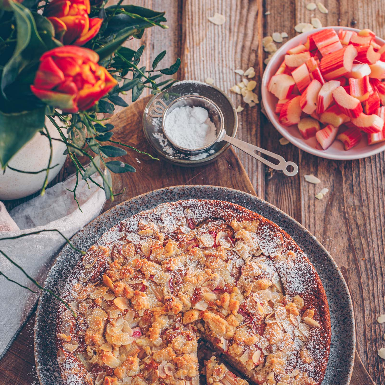 Rhabarberkuchen vegan