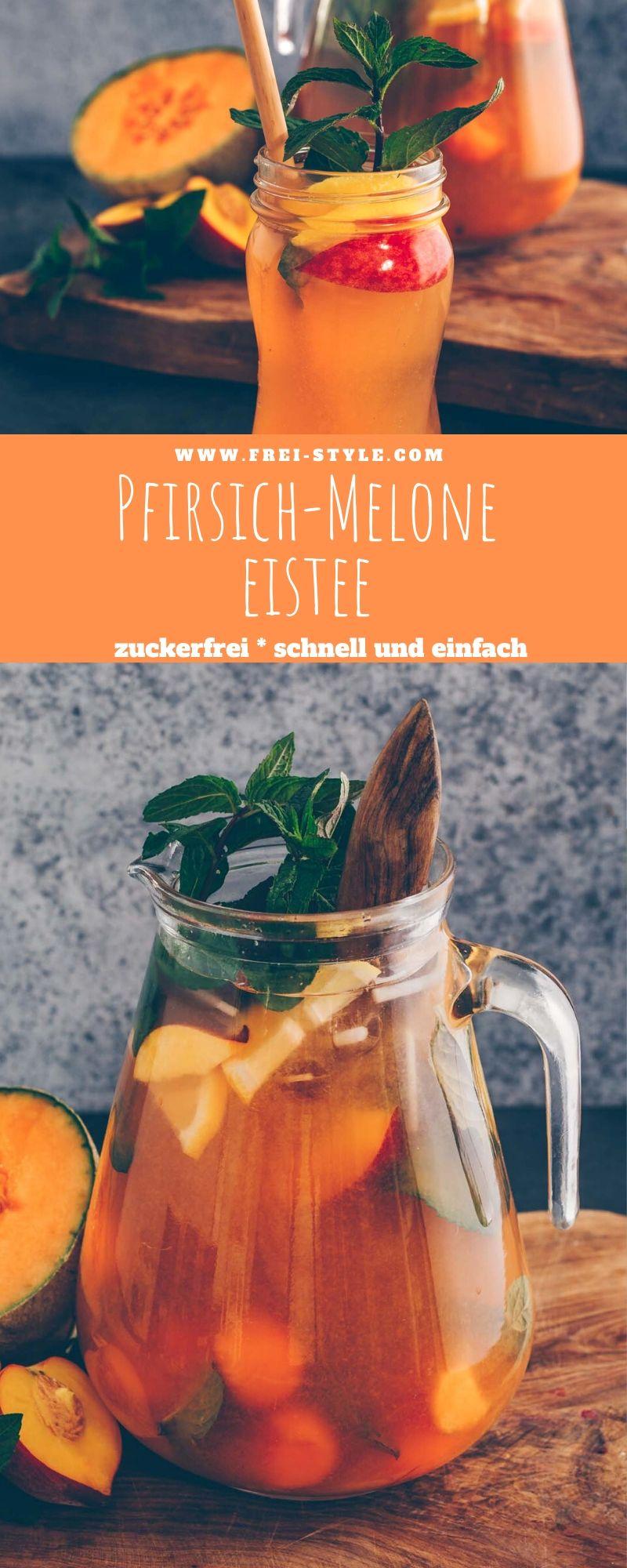 Pfirsich Melone Eistee