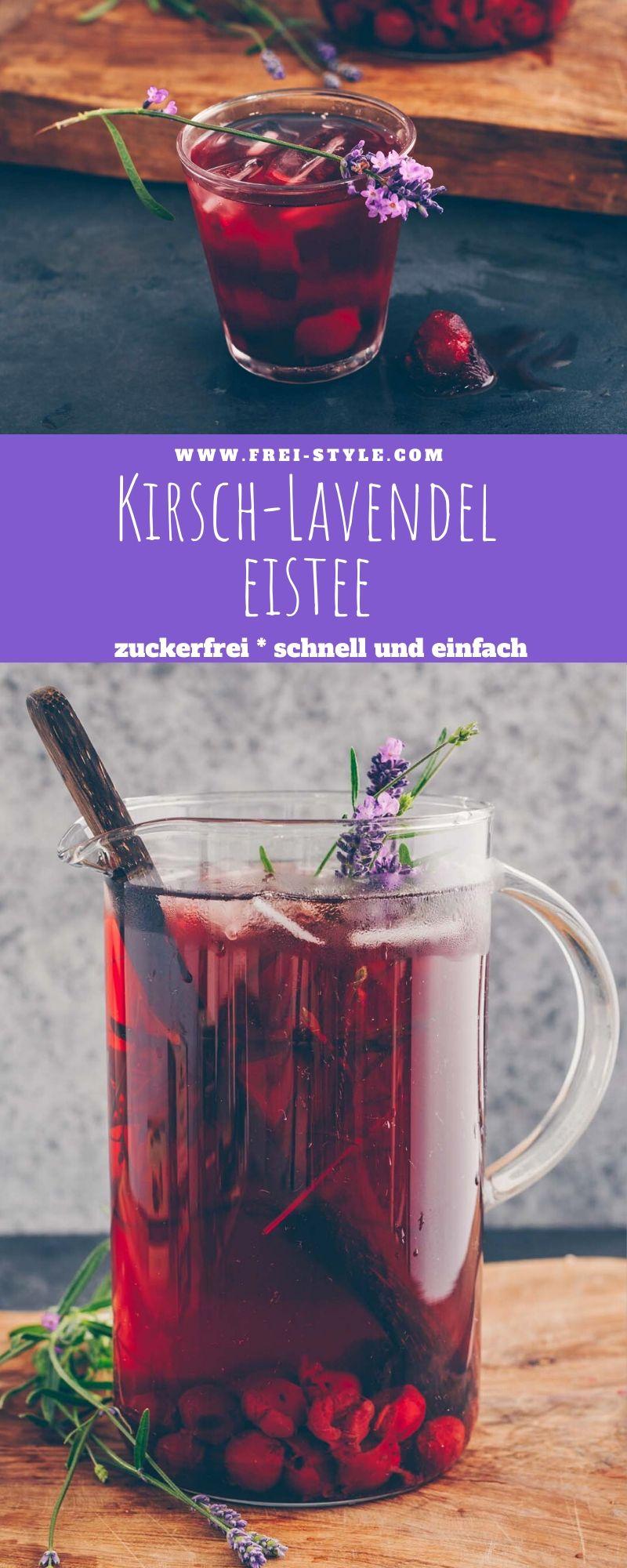 Kirsch Lavendel Eistee * zuckerfrei