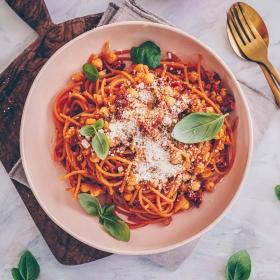 Protein Pasta mit Kichererbsen und Linsen