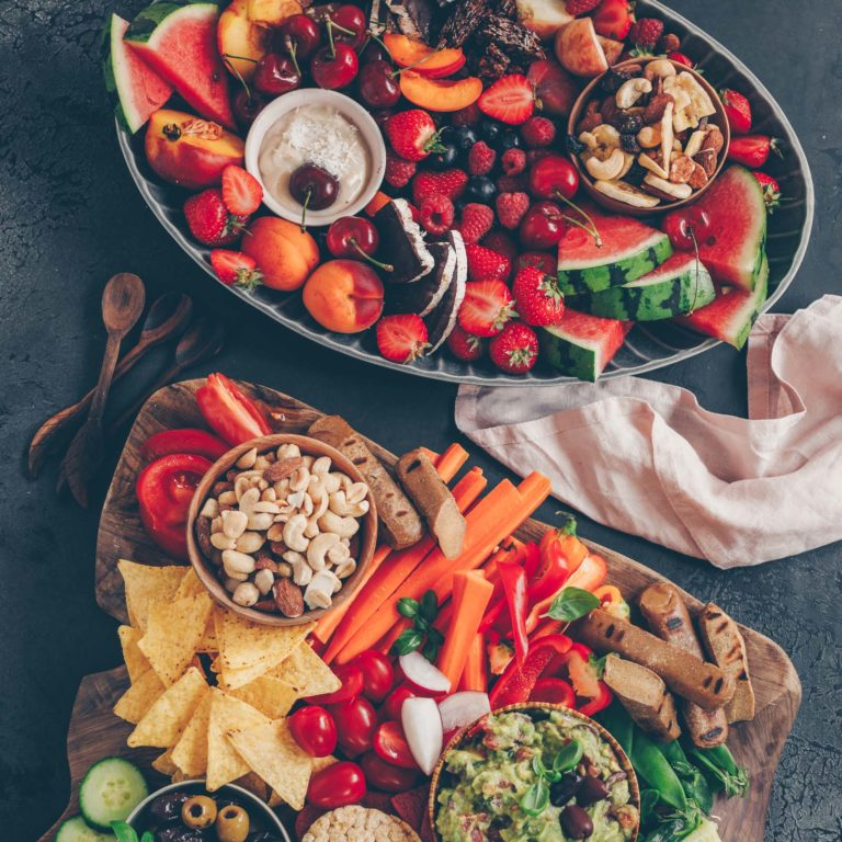 Summer food: Sweet and savory snack platters