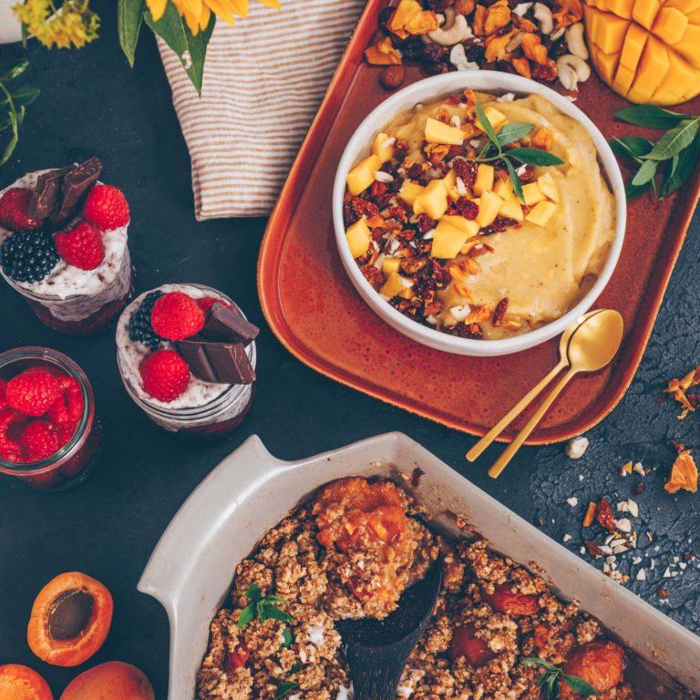 Drei einfache 5-Zutaten Sommer-Desserts