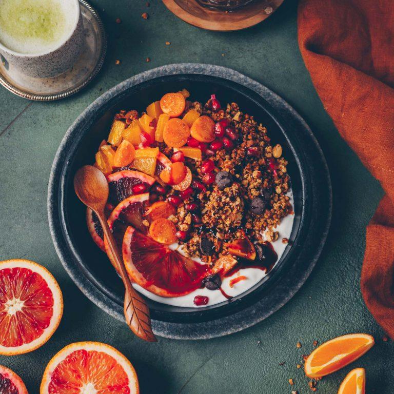 Schoko-Orangen Granola