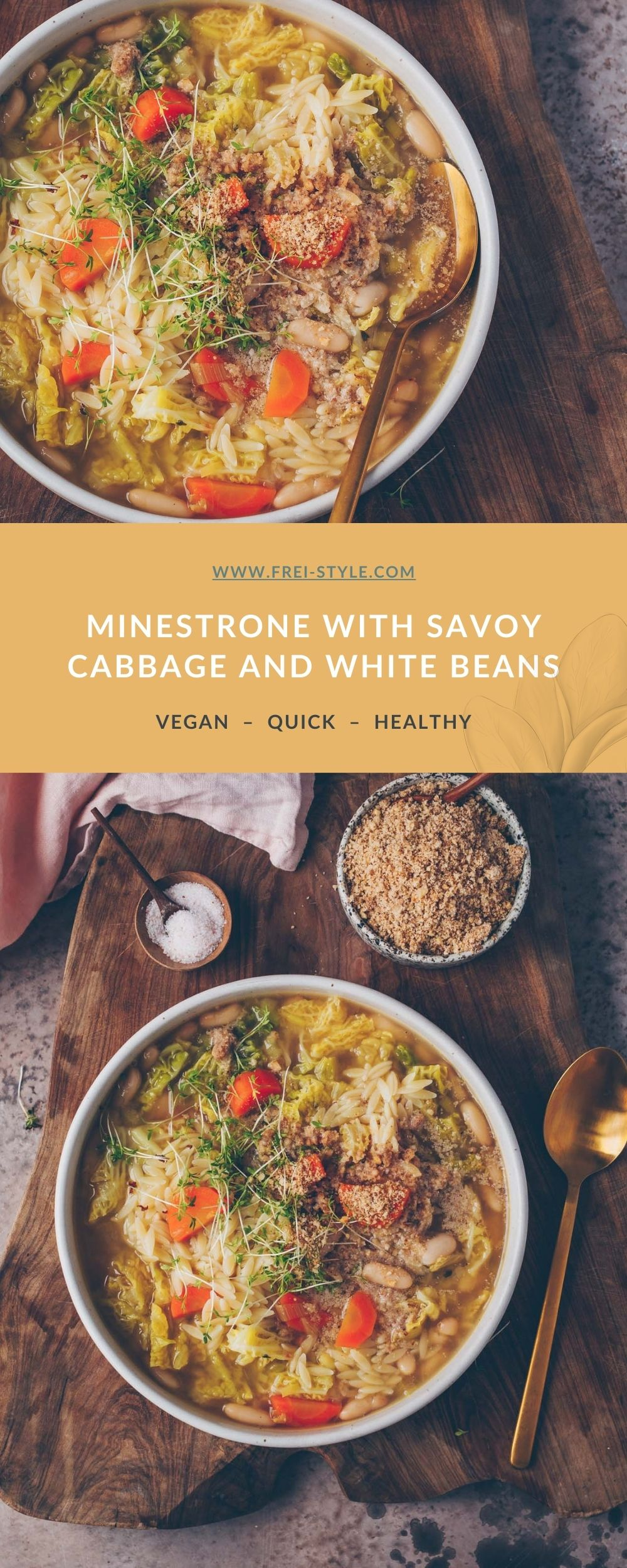 MINESTRONE WITH SAVOY CABBAGE AND WHITE BEANS