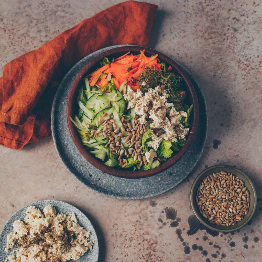 Tofu im Salat
