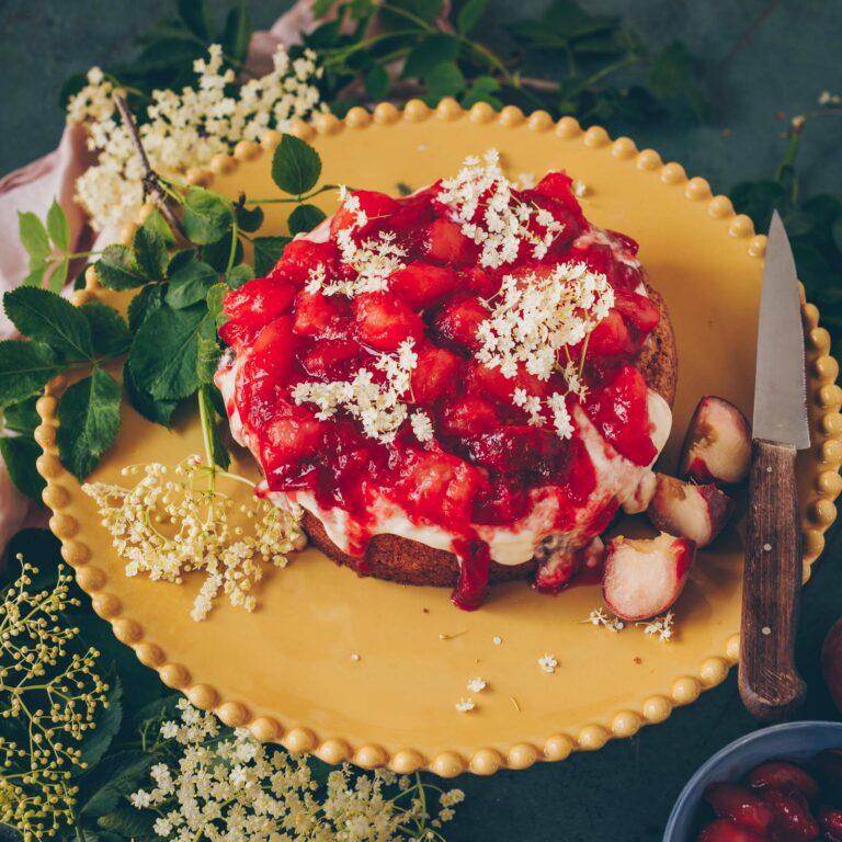 Polentakuchen mit Pfirsich