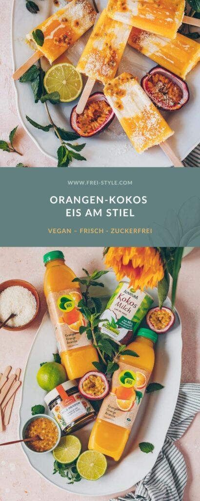 Orangen-Kokos Eis